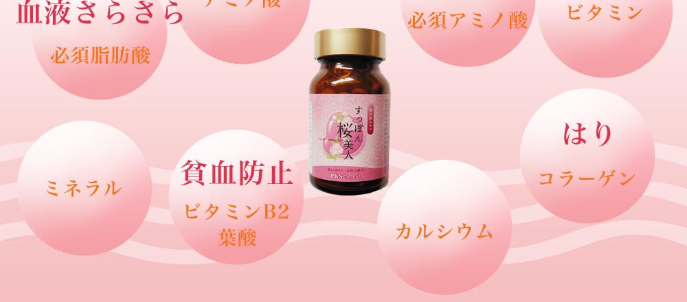 すっぽん桜美人 すっぽんと桜の花エキスがあなたを若々しく